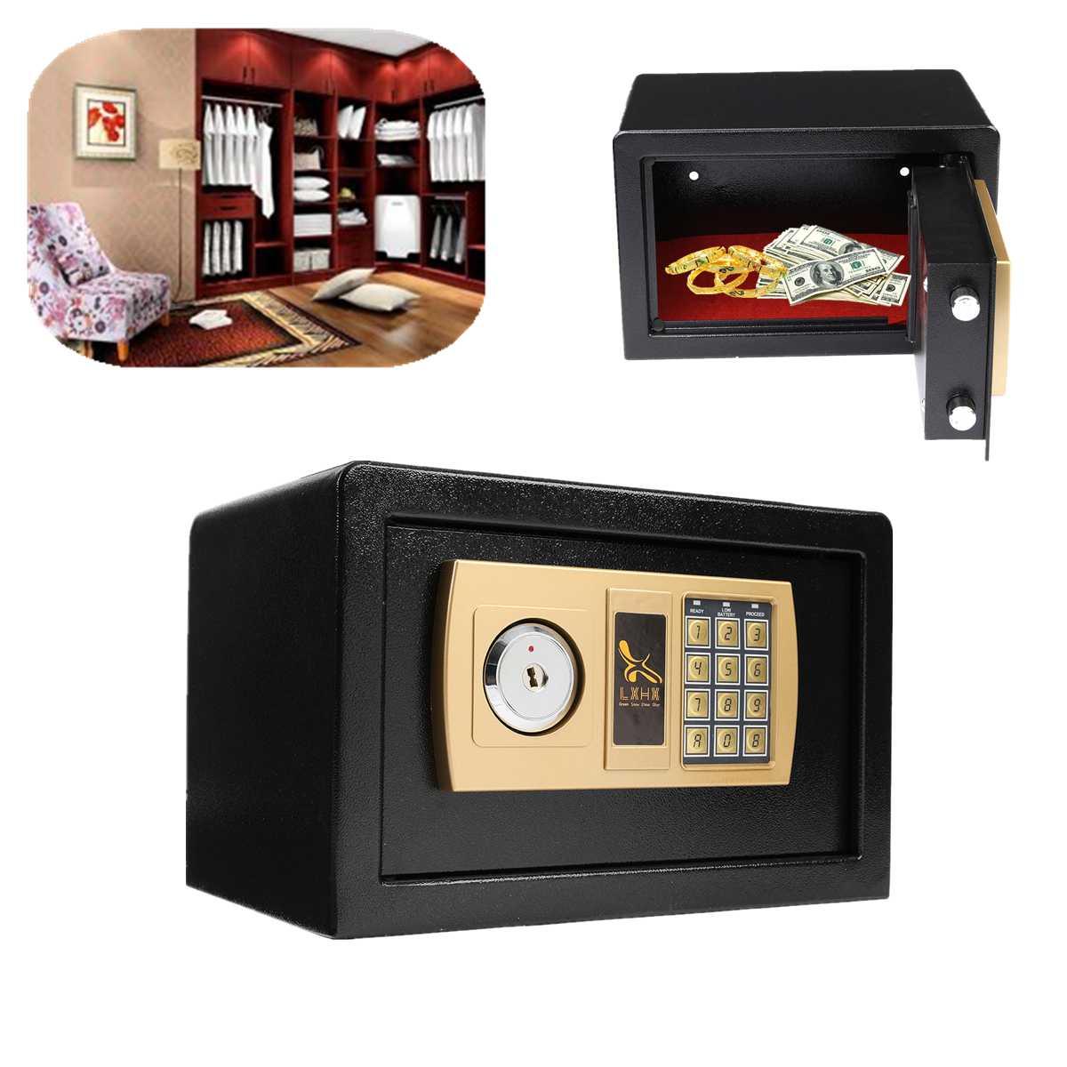 depo Coffre-fort de dépôt numérique pour bijoux, mot de passe électronique antivol, coffre-fort de