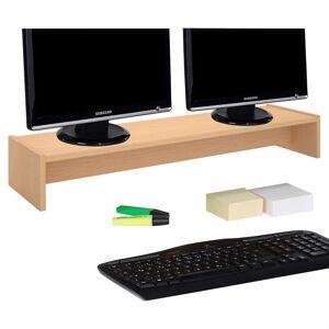 IDIMEX Support d'écran d'ordinateur SCREEN, en mélaminé couleur hêtre