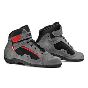 Sidi Chaussures en Cuir Moto Touring Sidi Duna Noir Gris Rouge Taille Chaussures:39