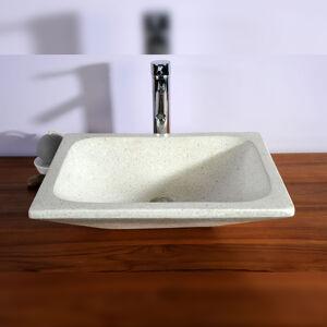 Saniteck Vasque rectangulaire blanche