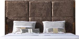 Destock Meubles Tête de lit étoffée velours chocolat pour lit 140