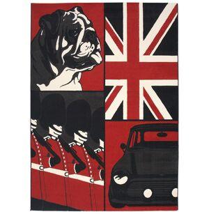 gdegdesign Tapis design rectangulaire Union Jack anglais rouge noir blanc - Gordon