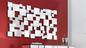gdegdesign Miroir design rectangulaire à facette - Ludwig
