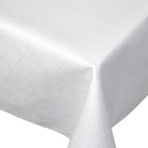 Linnea Nappe carrée 150x150 cm Jacquard 100% coton CUBE blanc