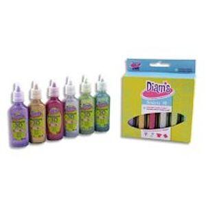 Oz international Set de 6 flacons 20ml Diams 3D Mini Total Star - couleurs pailletées assorties - Lot de 2