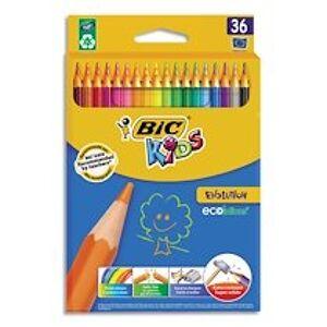 Bic Etui carton de 36 crayons de couleur EVOLUTION. Longueur 17,5cm. Coloris assortis - Lot de 2