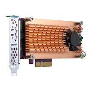 QNAP QM2-2P-384 - contrôleur de stockage - PCIe 3.0 - PCIe 3.0 x8