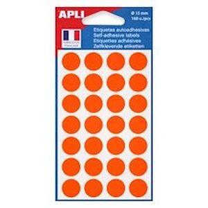 Agipa Pastilles adhésives Ø 15 mm Agipa 11184 orange - Pochette de 168