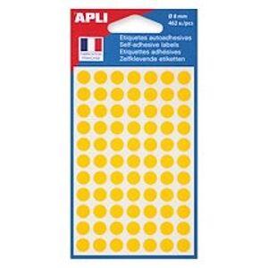 Agipa Pastilles adhésives Ø 8 mm Agipa 11183 jaunes - Pochette de 462
