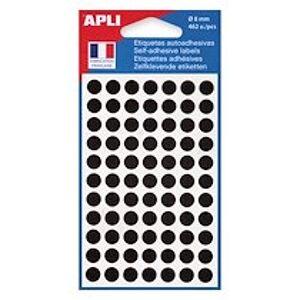 Agipa Pastilles adhésives Ø 8 mm Agipa 11183 noires - Pochette de 462