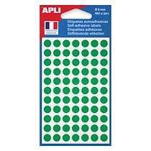 Agipa Pastilles adhésives Ø 8 mm Agipa 11183 vertes - Pochette de 462