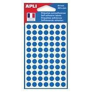 Agipa Pastilles adhésives Ø 8 mm Agipa 11183 bleues - Pochette de 462