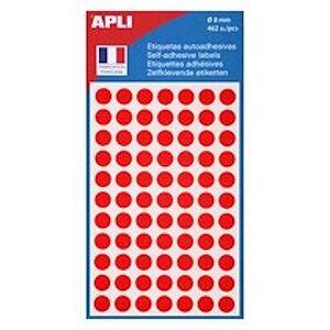 Agipa Pastilles adhésives Ø 8 mm Agipa 11183 rouges - Pochette de 462