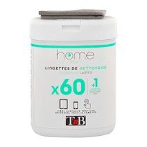 Boîte 60 lingettes de nettoyage + tissu microfibre pour matériel informatique