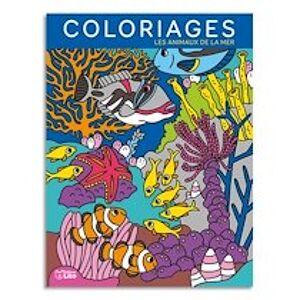Livre de coloriage 64 pages 205x270, thème les fonds marins - Lot de 3
