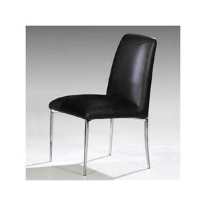 Distribain LOLA Lot de 4 chaises noires