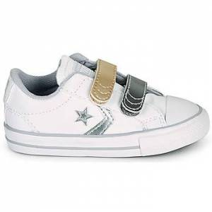 Converse Chaussures enfant Converse STAR PLAYER 2V METALLIC LEATHER OX - 25