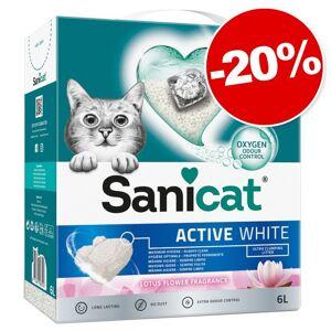 Sanicat 6L Active White Lotus Flower Sanicat Litière pour chat