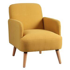 Altobuy Fauteuil  rembourré tissu jaune