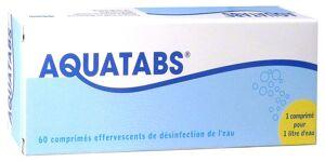 MEDENTECH Aquatabs 60 comprimes de desinfection d'eau