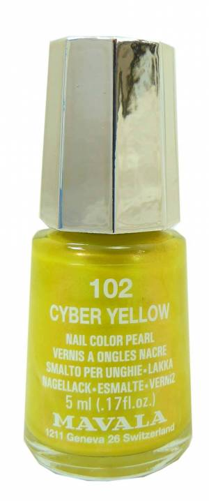 Mavala vernis a ongles nail color pearl cyber yellow 5ml