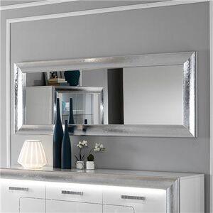NOUVOMEUBLE Miroir mural gris à strass design NEVAHE