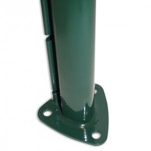 DIRICKX Poteau AXOR sur platine VERT (Couleurs : Vert RAL6005, Hauteur Poteau sur platine soudée : 1,25m)
