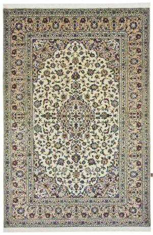 Nain Trading Tapis D'orient Kashan 300x200 Beige/Marron Foncé (Perse/Iran, Laine, Noué à la main)