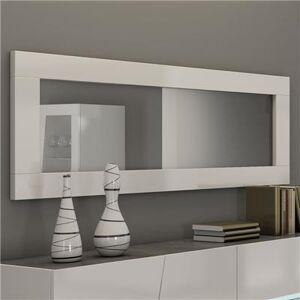 M-114 Miroir blanc laqué design JULIA-L 180 x P 4 x H 57 cm- Blanc Blanc
