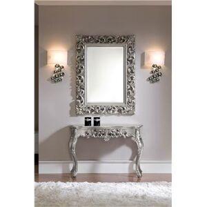 M-030 Miroir mural en gris ou doré laqué design CARLA-L 120 x P 7 x H 90 cm- Gris Gris