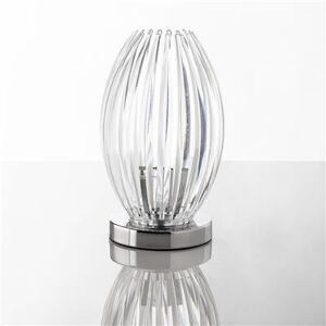 M-030 Lampe à poser design transparent, rouge ou bleu SAMARA-L 15,5 x P 15,5 x H 31 cm- Transparent Transparent