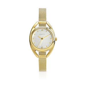 MATY Montre femme dorée bracelet maille milanaise- MATY