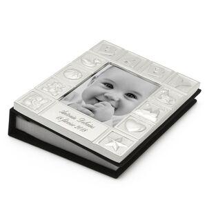 Amikado Cadre Album photo bébé en métal argenté