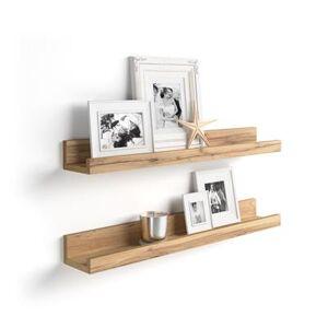 Mobili Fiver Paire d'étagères porte cadre, First, 80 cm, Bois Rustique