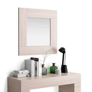 Mobili Fiver Miroir mural carré Evolution, orme perle