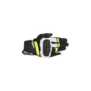 ALPINESTARS Gants Alpinestars Booster noir blanc jaune fluo