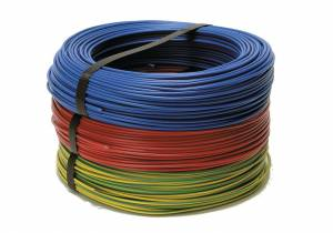 FILS & CABLES Fil rigide HO7 V-U 1X2.5mm² rouge 10M - FILS & CABLES - 60101025A
