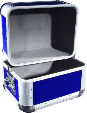 Roadinger Record case ALU 50/50, rounded, dark blue - Coffrets vinyles