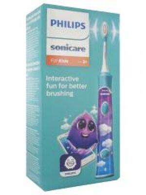 Philips Sonicare For Kids HX6322/04 Brosse à Dents Électrique Aqua - Boîte 1 brosse à dents électrique + accessoires