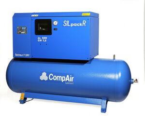 Compair Compresseur à piston lubrifié et insonorisé, avec sécheur, sur réservoir fixe Compair SILPACK-PF630/500Y