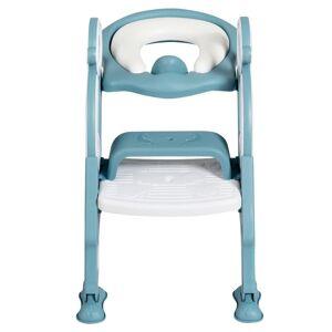 Costway Siège de Toilette pour Enfants Pliable et Hauteur Réglable en PP&PVC; Convient aux Enfants 1-8 Ans Vert