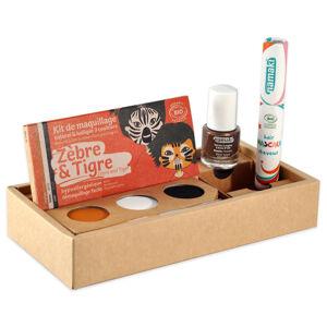 namaki Maquillage de déguisement Kit 3 Zèbre&Tigre*- Vernis Bronze (14)- Mascara cheveux orange (23)