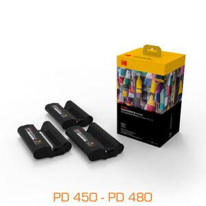 Kodak 3 cartouches & papier pour imprimantes PD450, PD480 - 120 feuilles