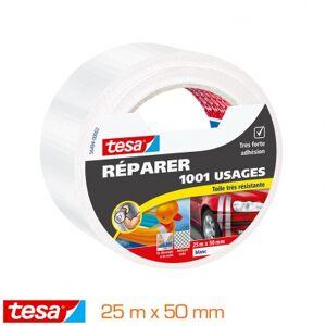 Tesa Réparer Toilé 1001 Usages 25m x 50mm blanc
