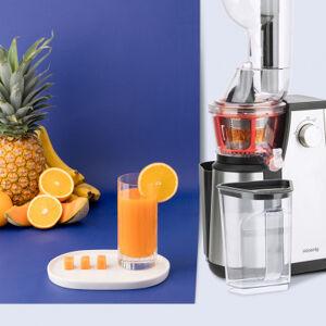 H.koenig Extracteur de jus Vitamin+ 400 W - 1L - extra-lent + 4 accessoires - acier