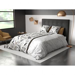 My Home Parure de couette Karar - 3 pièces - 220 x 240 cm - 100 % coton 57 fils/cm² - gris