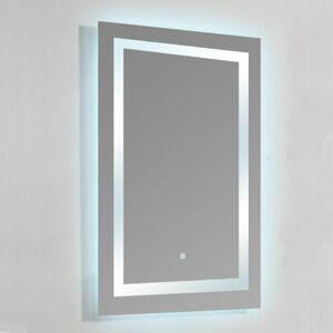 Rue Du Bain Miroir lumineux de salle de bain Rectangle - Rétro-éclairage LED - 60x80 cm - Connec't 60