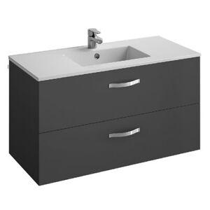 Jacob Delafon - Ensemble meuble avec plan vasque Ola, gris anthracite, 100, 2