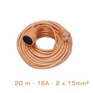 Cogex Rallonge extérieure - 20 mètres -16A - 2x15 mm²
