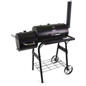 """Habitat & Jardin Barbecue charbon de bois """"Baron"""" avec cheminée - Noir"""